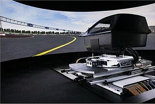 ansible motion simulator uses composits to build a better driving simulator