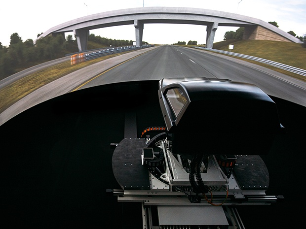 driving simulator on a highway