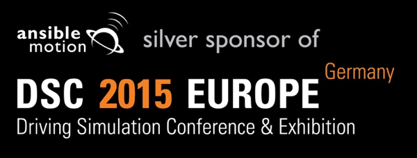 Ansible Motion Sponsor at DSC 2015 Europe Driving Simulation Conference & Exhibition