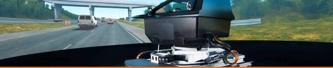 Automotive driver-in-the-loop simulation articles